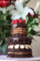 Two tier macaron cake