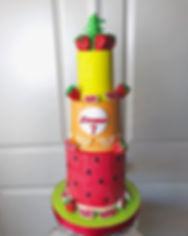 fruit design cake baker dallas