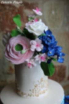 edible floral wedding cake topper