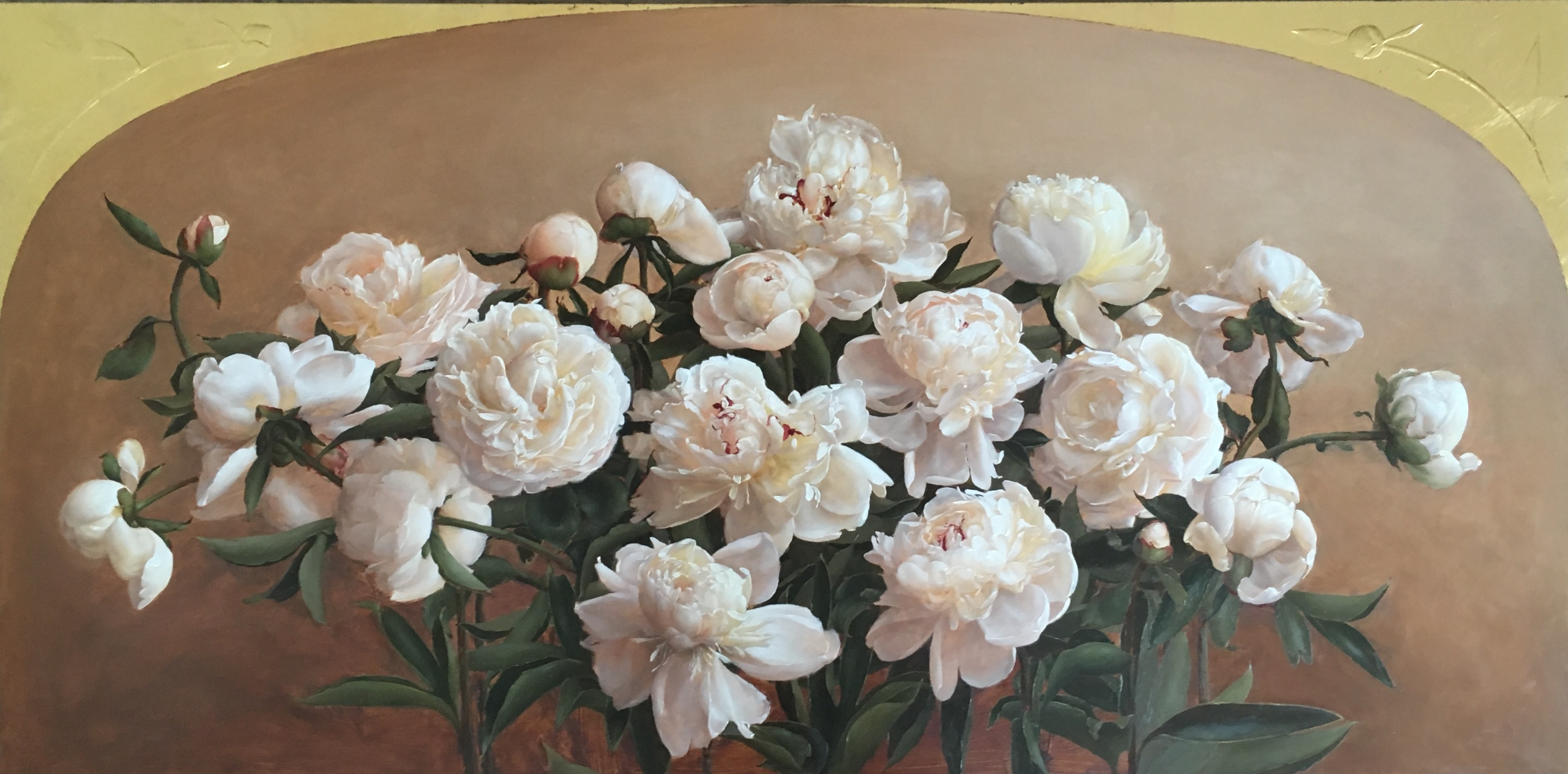 Indiana State Flower, White Peonies