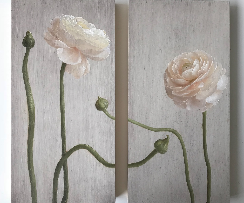 Ranunculus Diptych