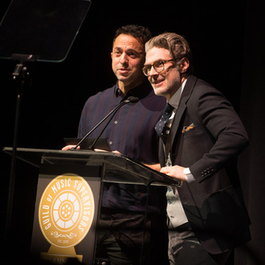 Andrew Kahn and Matt Presenting at the 9th Annual GMS Awards