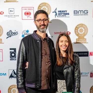 Kier Lehman and Season Kent at the 9th Annual GMS Awards