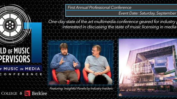 ANNOUNCING THE 1st ANNUAL GUILD OF MUSIC SUPERVISORS STATE OF MUSIC IN MEDIA CONFERENCE-  SATURDAY,