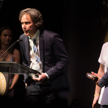 Tom Wolfe Accepting his award at the 9th Annual GMS Awards