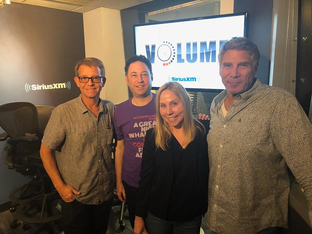 Jonathan McHugh (music supervisor), Mid day host Alan Light (Viacom Sr. VP Music & Strategy),  Anita Chinkes Ratner,  Mark Goodman (Volume Channel co-host)