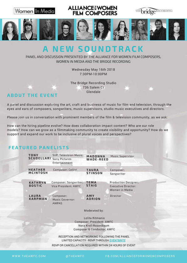 GMS Recommends: A New Soundtrack - A panel and discussion presented by the Alliance for Women Film C