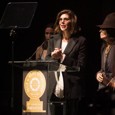 Alex Patsavas and Linda Perry Presenting at the 9th Annual GMS Awards