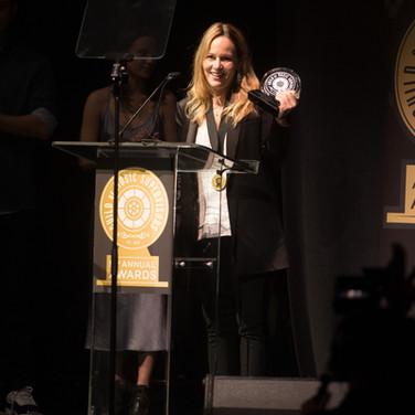 Robin Urdang Accepting her award at the 9th Annual GMS Awards