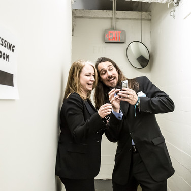 Joel C. High and Robin Urdang Backstage at the 9th Annual GMS Awards
