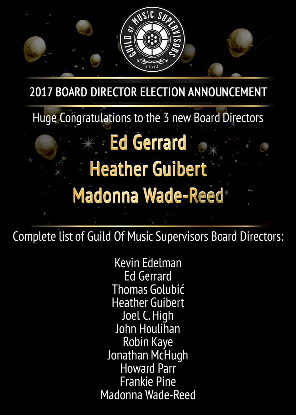 2017 Board Director Election Announcement