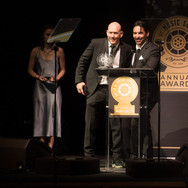 Kevin Edelman and Jon Presenting at the 9th Annual GMS Awards