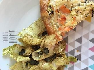 Recette tarte saumon courgette diététicien nutritionniste blois