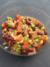 Recette salade mexicaine dieteticien nutritionniste Blois