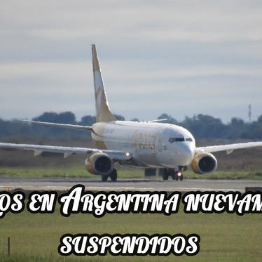 """""""Sin vuelos en Argentina"""" al menos hasta el 12 de Octubre"""