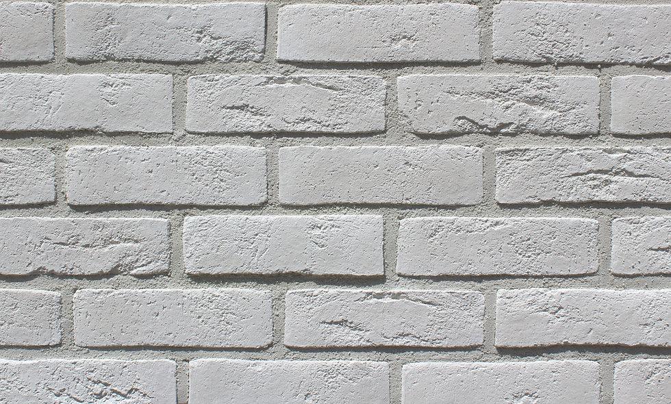 Плитка Loft Brick Бельгійський 01 Білий 240x71 мм