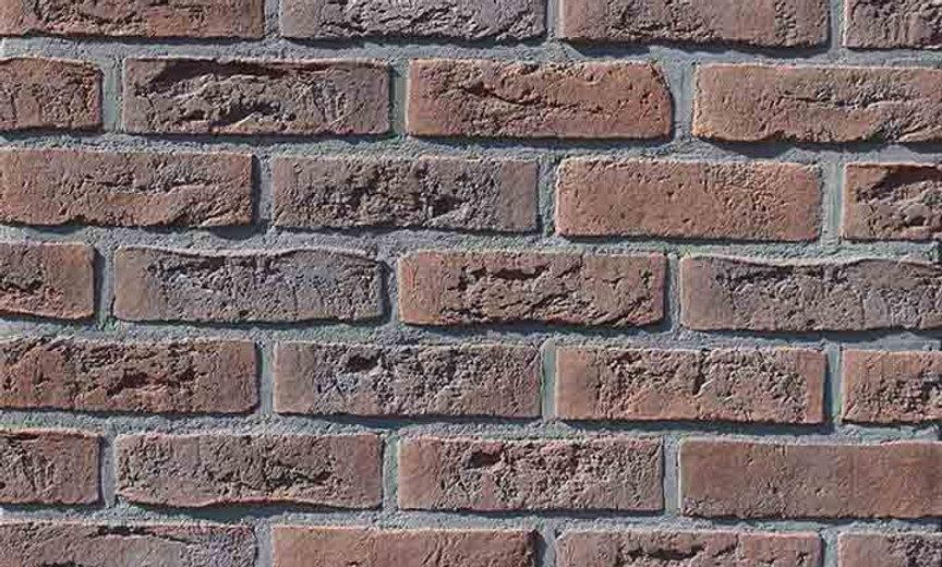 Плитка Loft Brick Бельгійський 02 Коричнево-бордовий з підпалом 240x71 мм