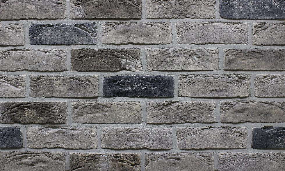 Плитка Loft Brick Квебек Сірий з підпалом 210x65 мм