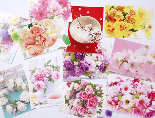 お花のポストカード