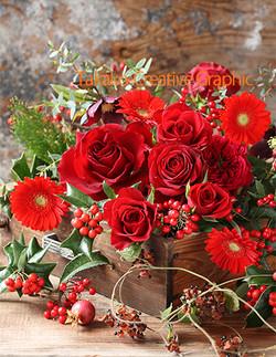 赤いバラのアレンジ