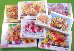 お花のジグソーパズル