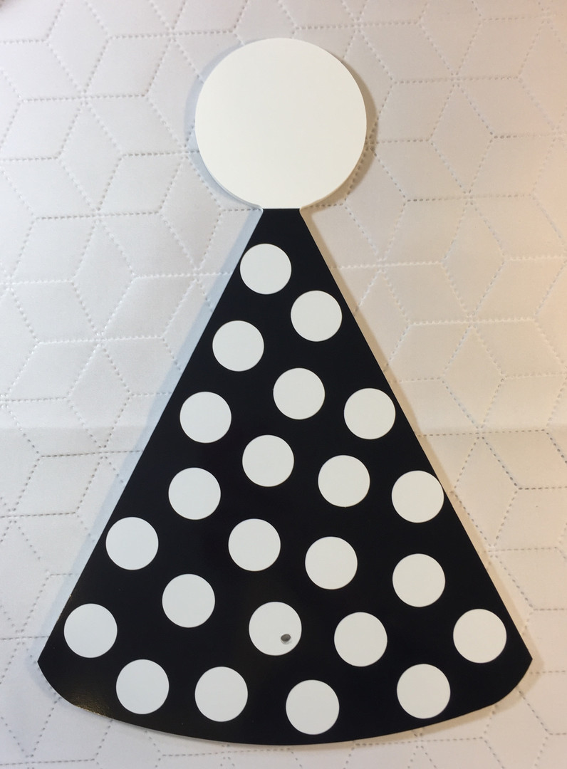 Black & White Polka Dot Party Hat