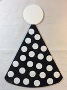 Black & White Polka Dot Party Hat