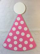 Pink Polka Dot Party Hat