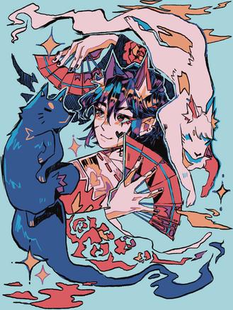 Wolf Boy Hoodie Back Print