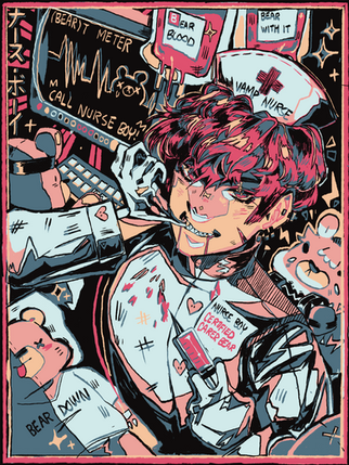 Nurse Boy Sweater Print