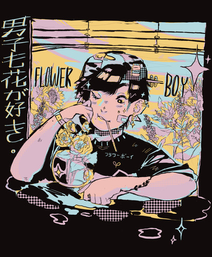Flower Boy Tshirt Print