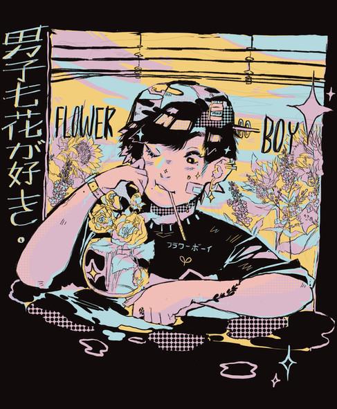 Flower Boy Tshirt Print