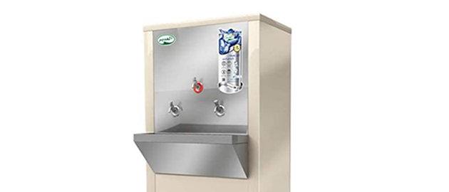 برادة الغدير 75 لتر حار بارد 3 حنفية استيل WSH75-R