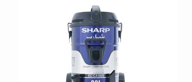 مكنسة كهربائية إسطوانية شارب  20 لتر 1800 واط ، اللون أزرقEC-CAS1820-Z