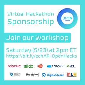 echoAR sponsors OpenHacks and runs Virtual Workshop