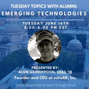 echoAR leads Columbia University Emerging Technologies Webinar