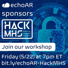 echoAR sponsors HackMHS and runs Virtual Workshop