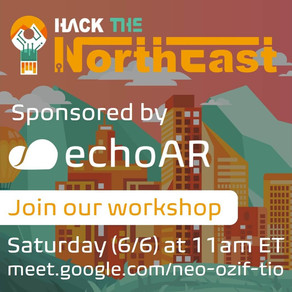echoAR sponsors Hack the Northeast and runs Virtual Workshop