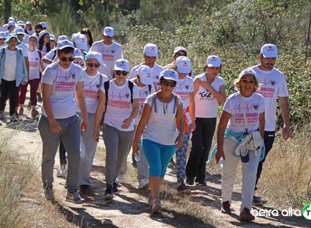 """1ª Caminhada """"Bombeiros no Coração"""" ajudou Bombeiros Voluntários da Guarda"""