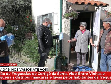 União de Freguesias de Cortiçô da Serra distribui máscaras e luvas pelos habitantes da freguesia