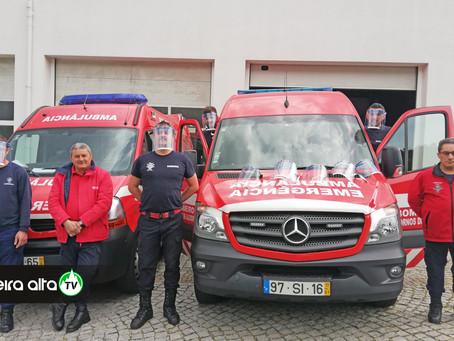 Bombeiros de Fornos de Algodres recebem equipamentos de proteção para serviços com suspeita de COVID
