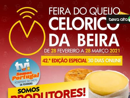 42.ª Edição da Feira do Queijo de Celorico da Beira vai realizar-se na internet durante 30 dias