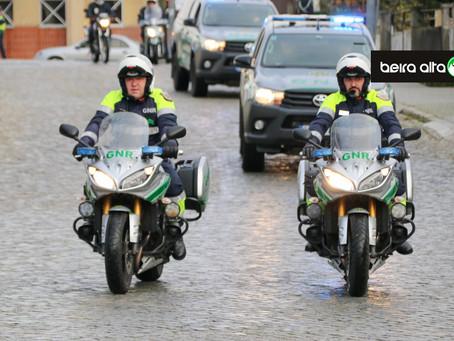 """GNR da Guarda organiza passeio motociclista no âmbito da Operação """"MOTO"""" 2020"""