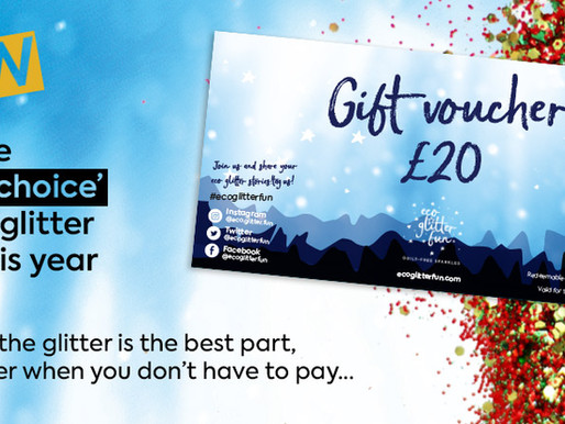 A new gift voucher to rival all gift vouchers... GLITTER VOUCHER!