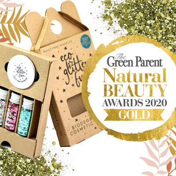 Eco Glitter Fun wins Gold in Green Parent Natural Beauty Awards