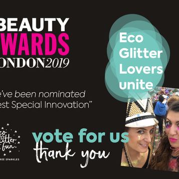 Eco Glitter Fun shortlisted for 2019 Pure Beauty Awards