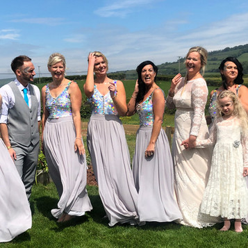 Eco-inspired Somerset wedding gets a sprinkle of Eco Glitter Fun