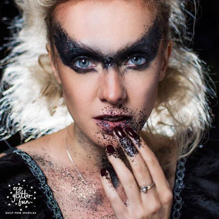 dark angel - halloween makeup - bio glitter.jpg