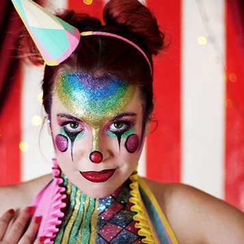 Spooky circus Halloween makeup ideas