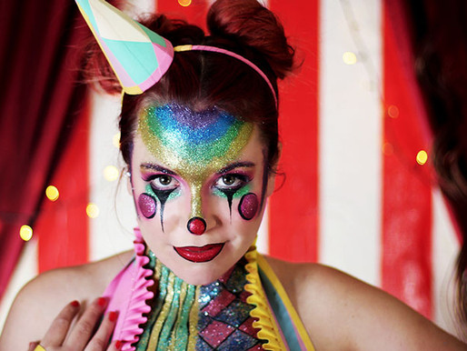 Spooky circus Halloween makeup ideas